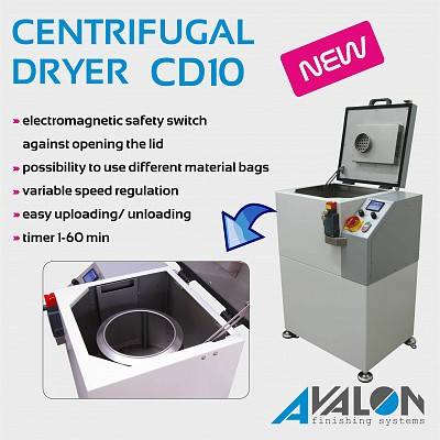 New ! Centrifugal Dryer CD10